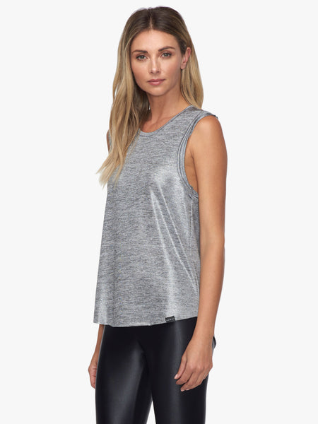 Press Deanna Tank - Silver Heather