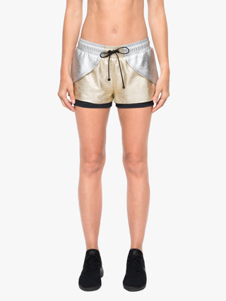 Rallycross Chromoscope Shorts - Gold/Silver/Black
