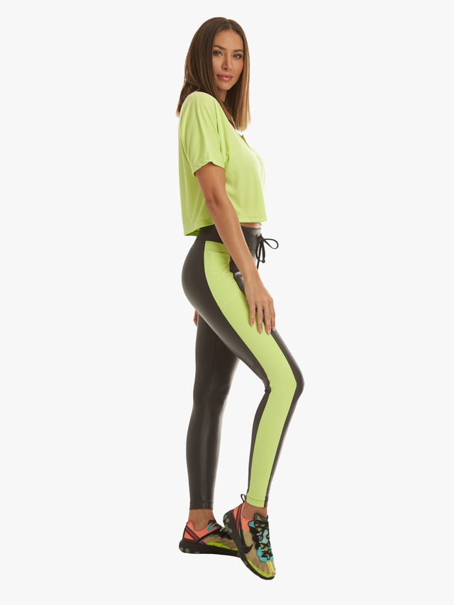 Sanko High Rise Legging - Lead Citrina