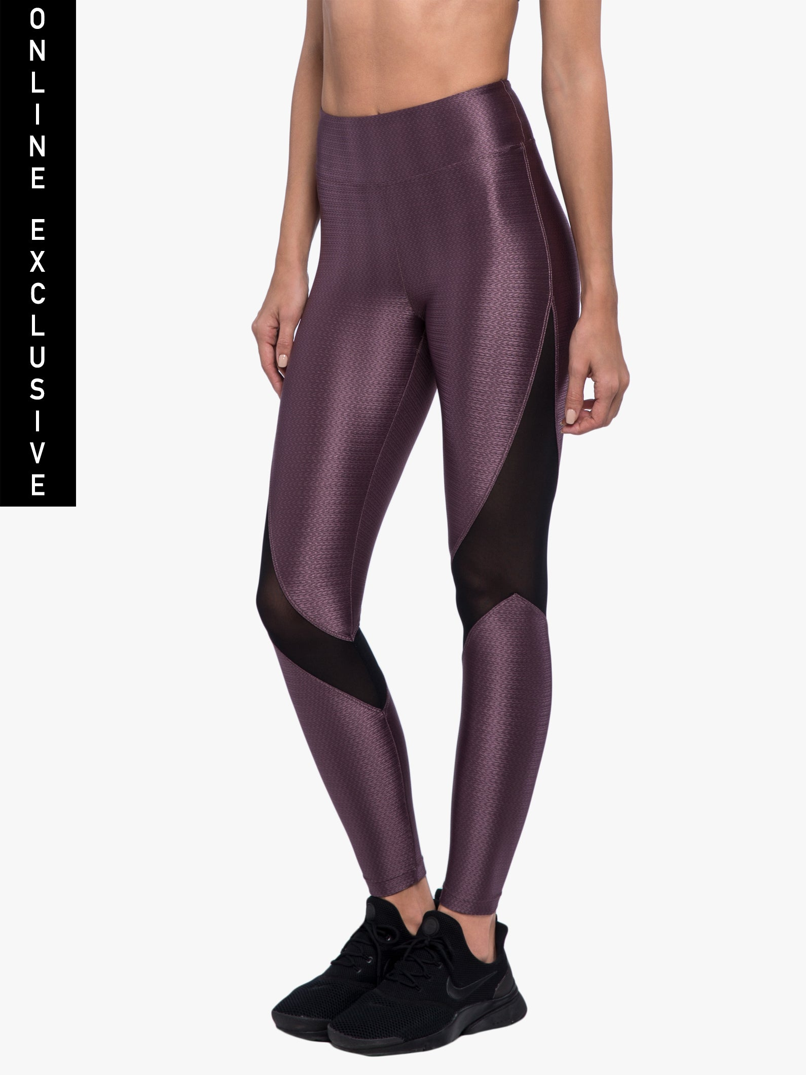 Sap High Rise Charge Legging - Black Plum