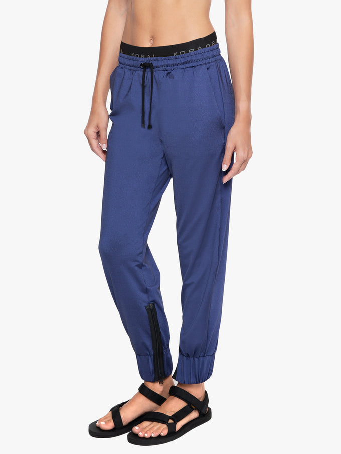 Reverie Shantung Sweatpants - Marinho