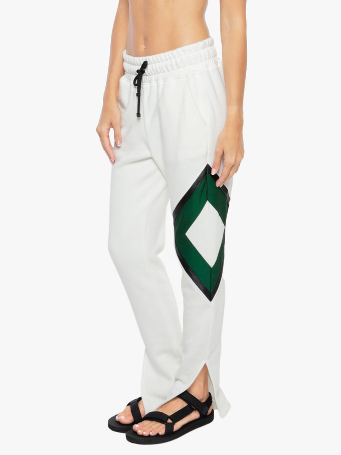 Rover Matte Sweatpant - White/Dark Green/Black