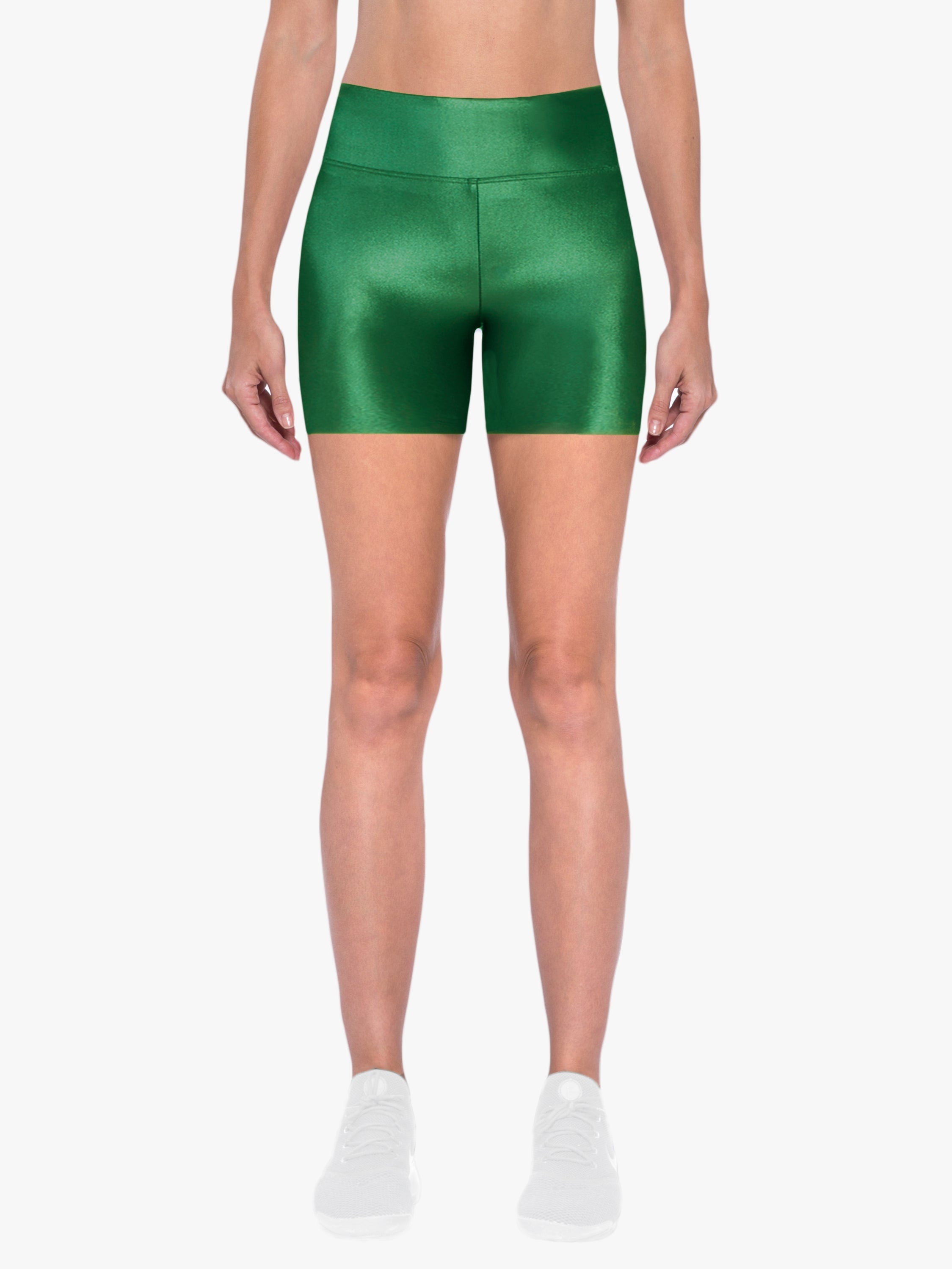Slalom High Rise Infinity Shorts - Dark Green