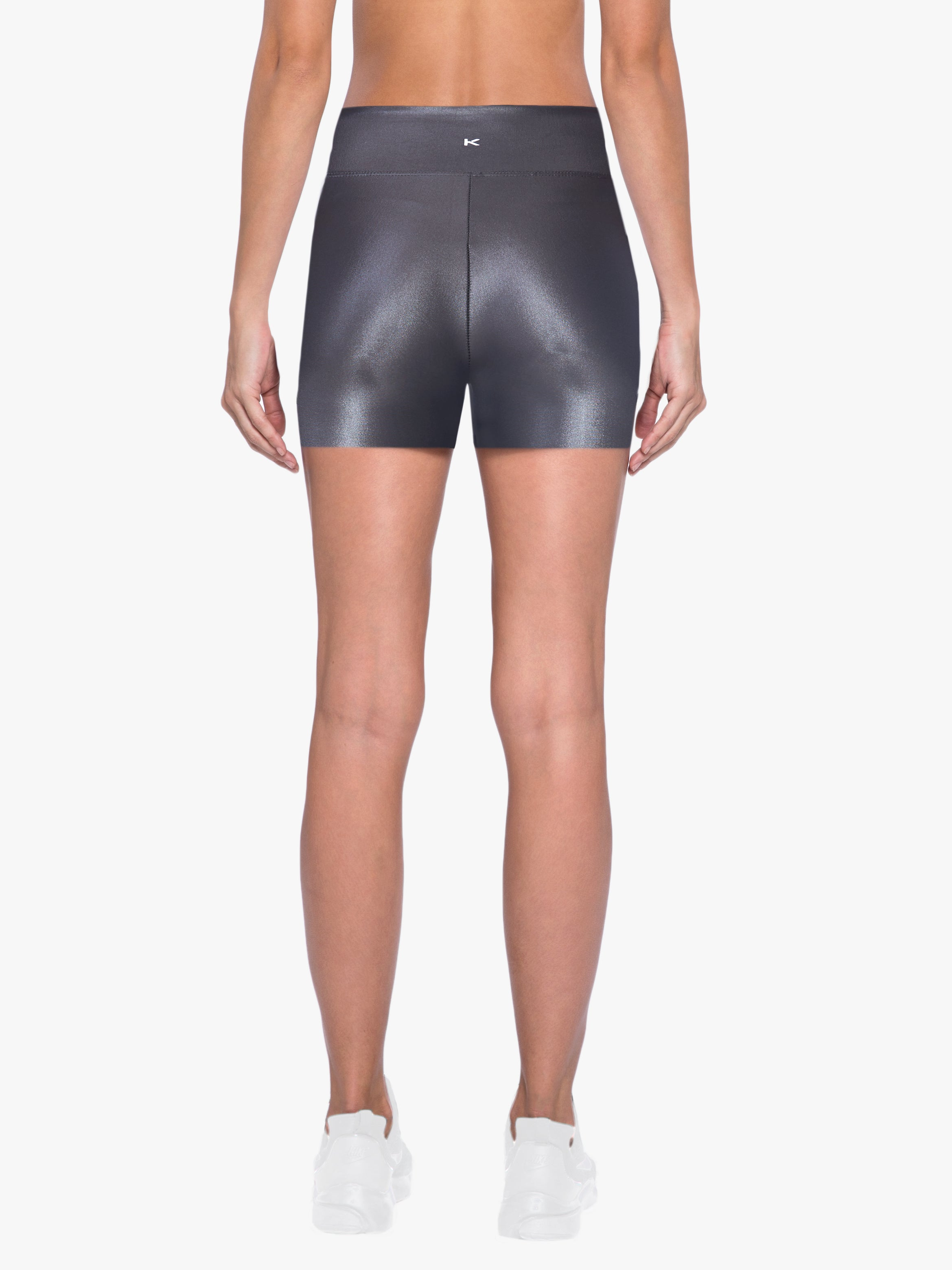 Slalom High Rise Infinity Shorts - Lead