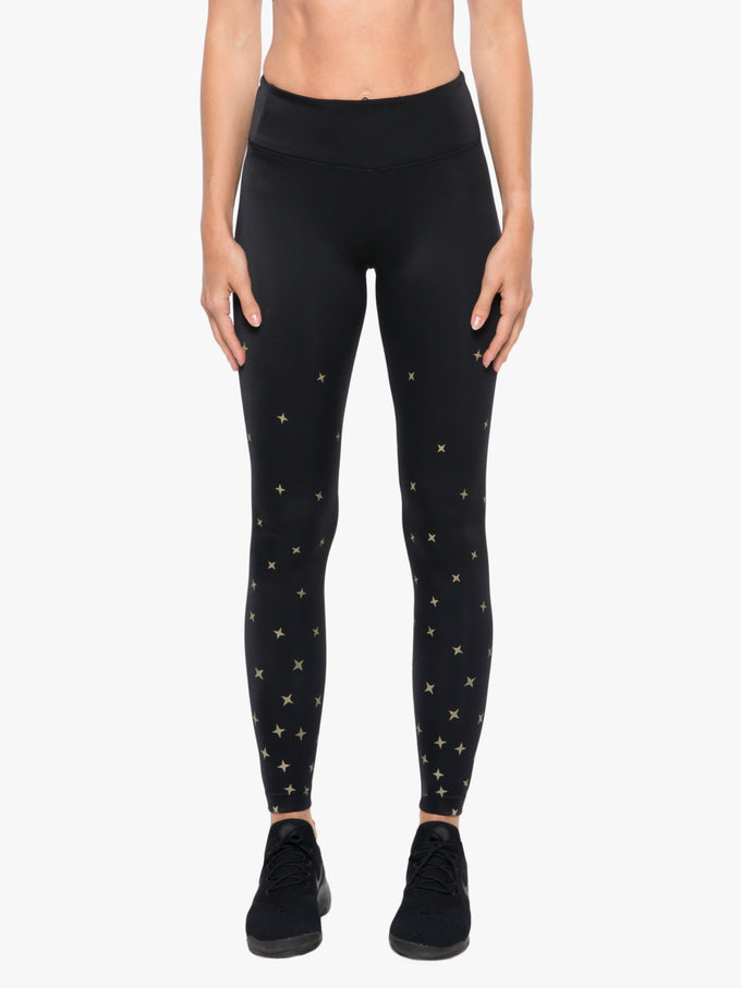 Stellar High Rise Impression Legging - Constellation Black