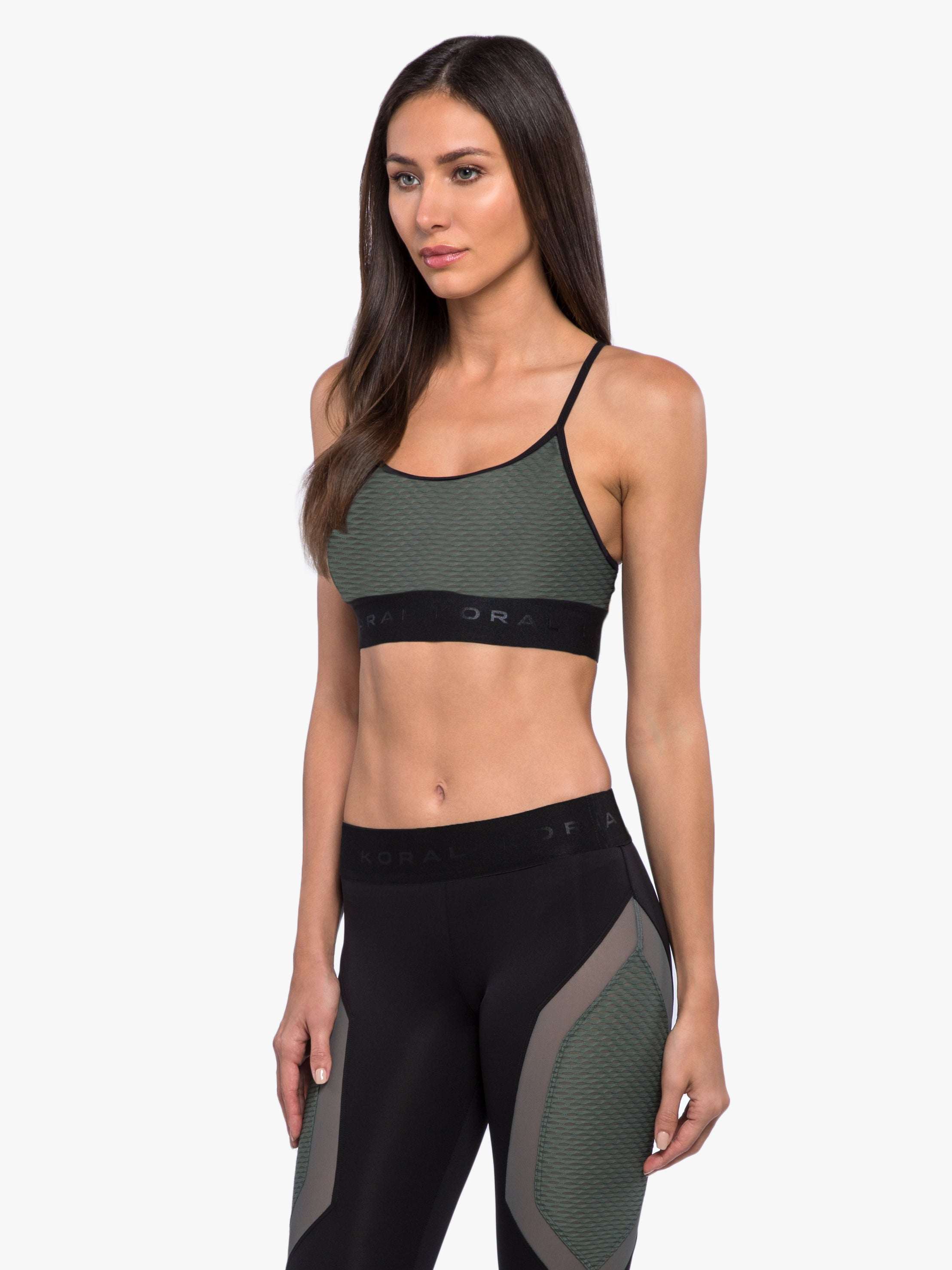 Sweeper Netz Sports Bra - Agave