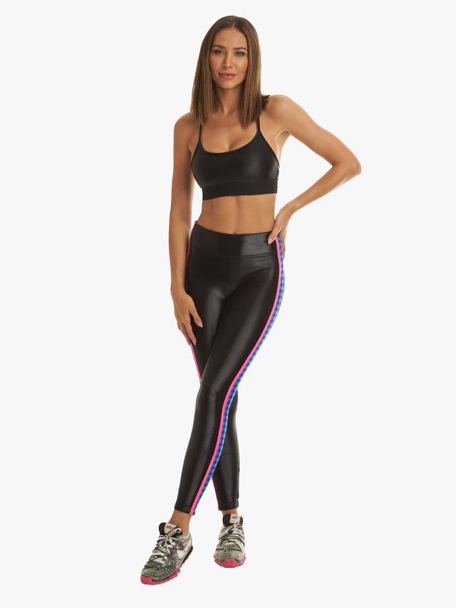 Trainer High Rise Infinity Legging - Black/Orchid/Blue