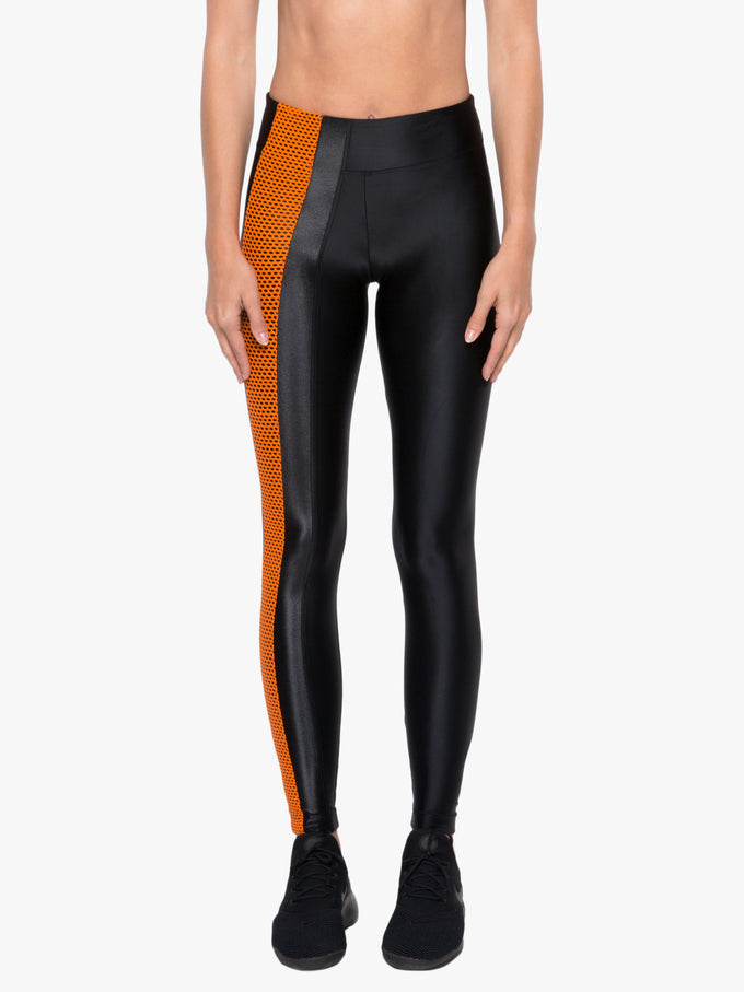 Teazer High Rise Energy Legging - Black/Jasper Orange