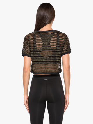 Terrain Disconnect Crop Top - Gold/Black