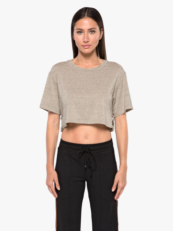Terra Luxe Crop Top - Gold Heather