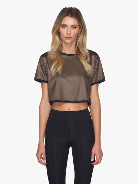 Terrain Crop Top - Capriolo/Black
