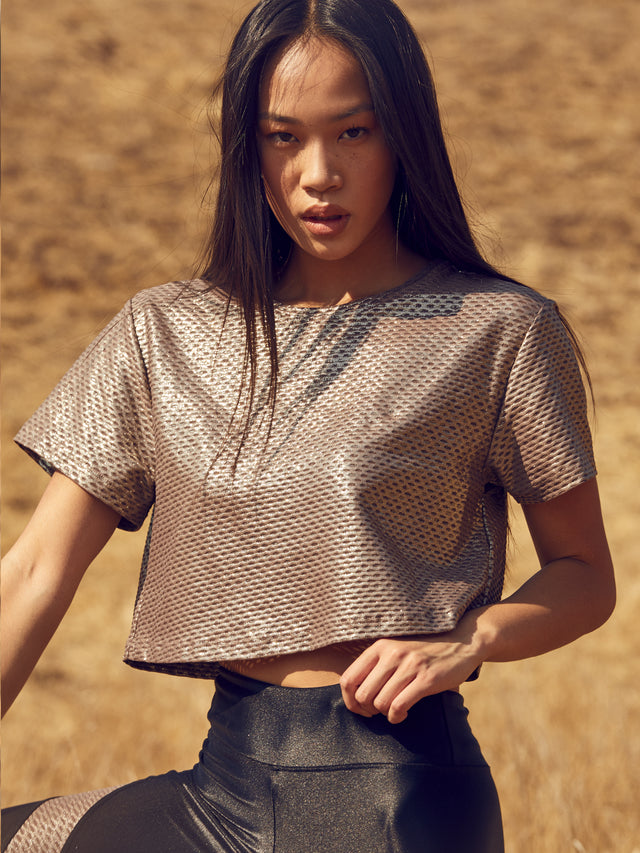 Terrain Netz Crop Top