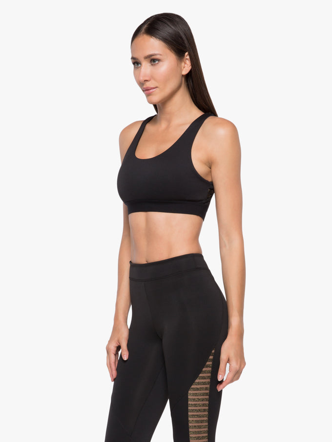 Vertex Disconnect Sports Bra - Black/Gold