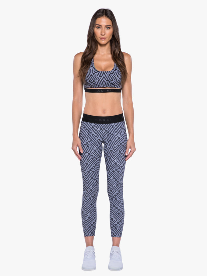 Knockout Vertex Cropped Legging - White Vertex