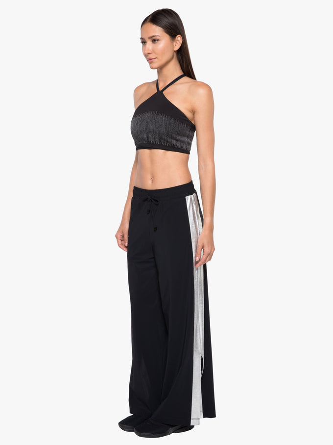 Willow Slick Pant - Black/Silver