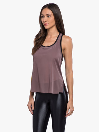 Zyra Power Mesh Tank - Black Plum