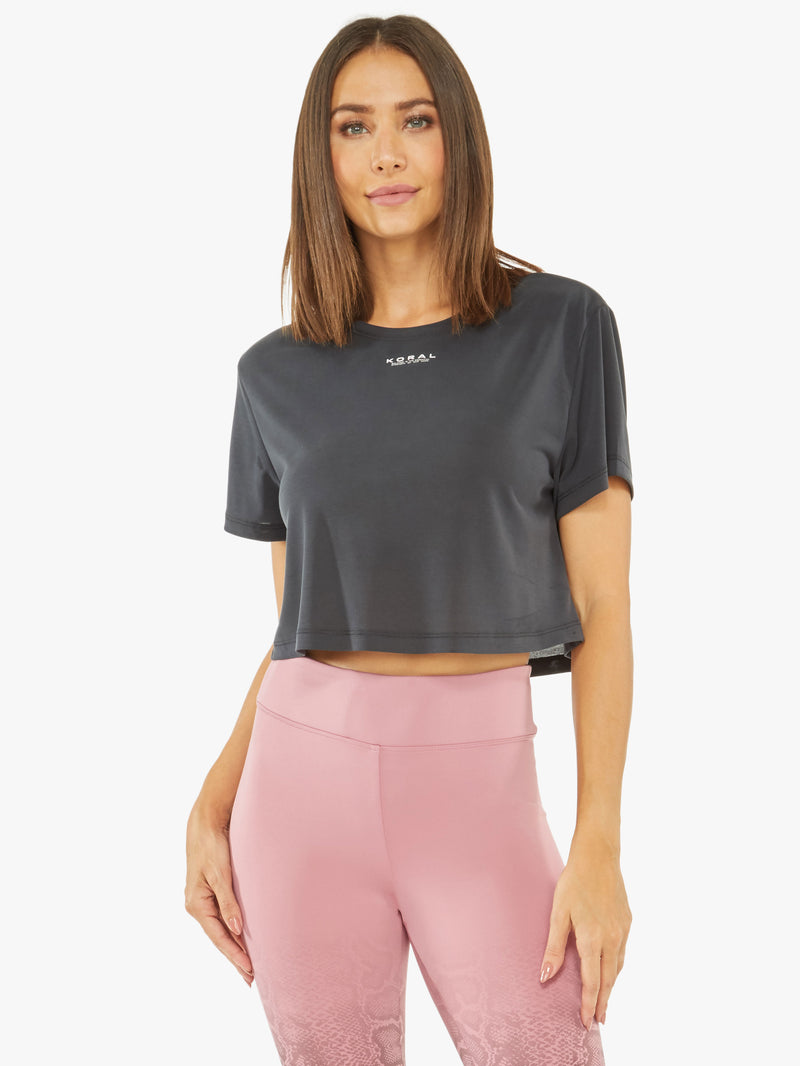Terrain Peach Jersey Crop Top
