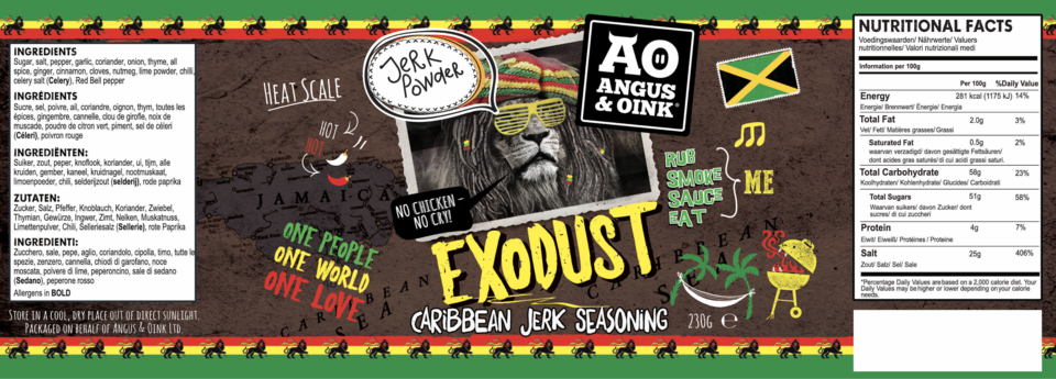 EXODUST JERK SEASONING 200G/ - Bromfields-Butchers