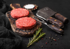 4 x Rib Eye Steak Beef Burgers - Bromfields-Butchers