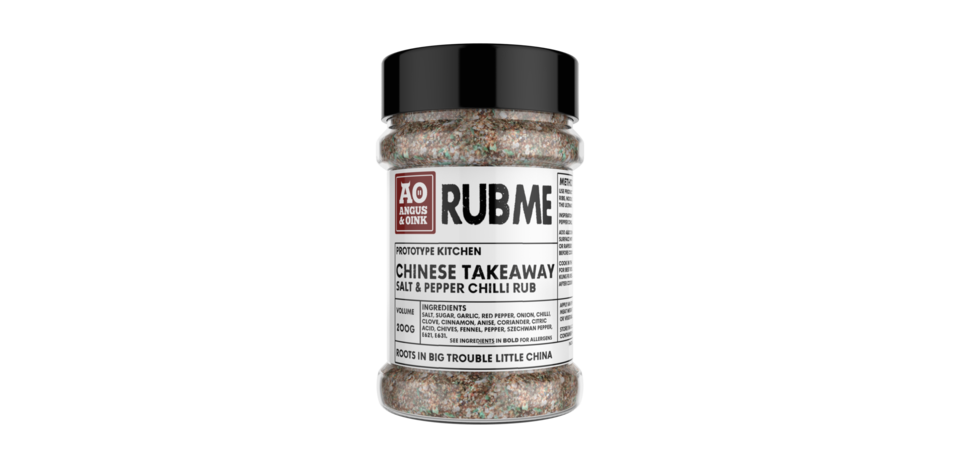 CHINESE TAKEAWAY SALT & PEPPER RUB 200G