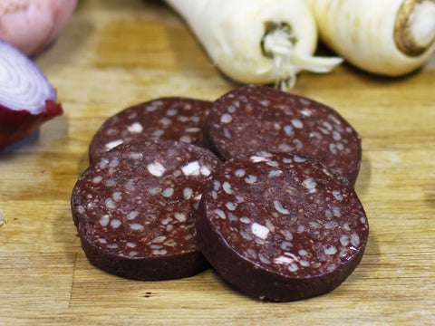 Sliced Black Pudding (4 Slices) - Bromfields-Butchers