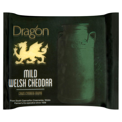 Dragon Mild Welsh Cheddar, 180g Wedge - Bromfields-Butchers
