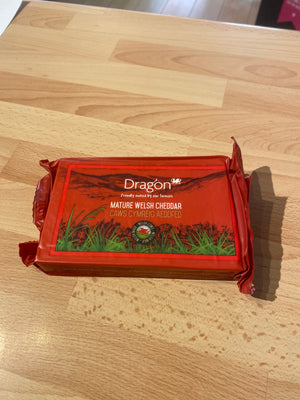 Dragon Welsh Cheddar, 350g - Bromfields-Butchers