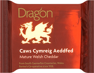 Dragon, Mature Red Welsh Cheddar, 180g Wedge - Bromfields-Butchers