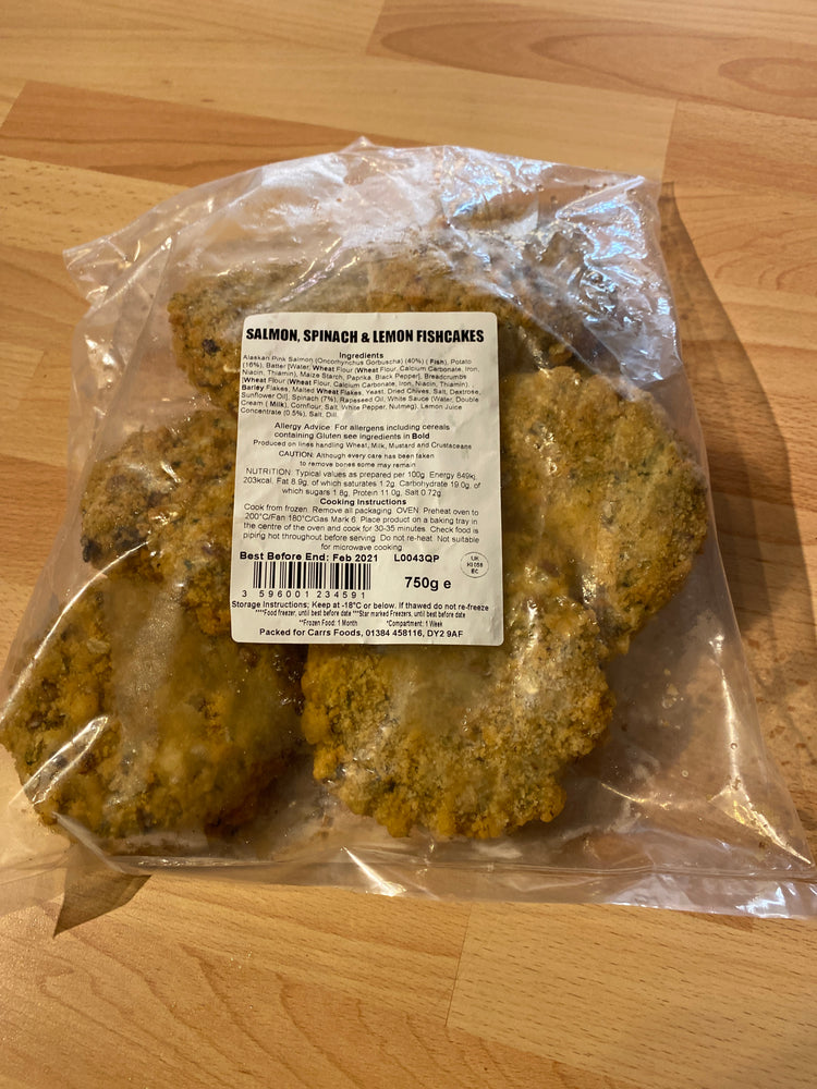 Salmon Spinach & Lemon Fish Cakes - Bromfields-Butchers