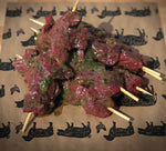 Garlic Rump Steak Brochettes