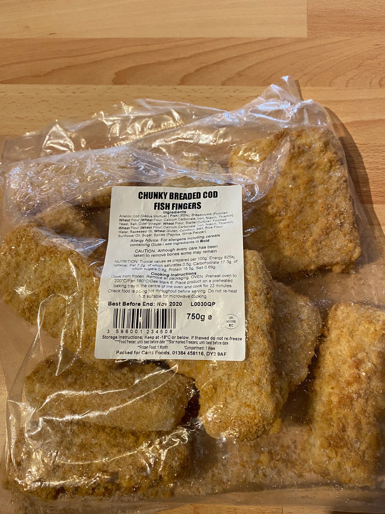 Chunky Breaded Cod Fish Fingers - Bromfields-Butchers