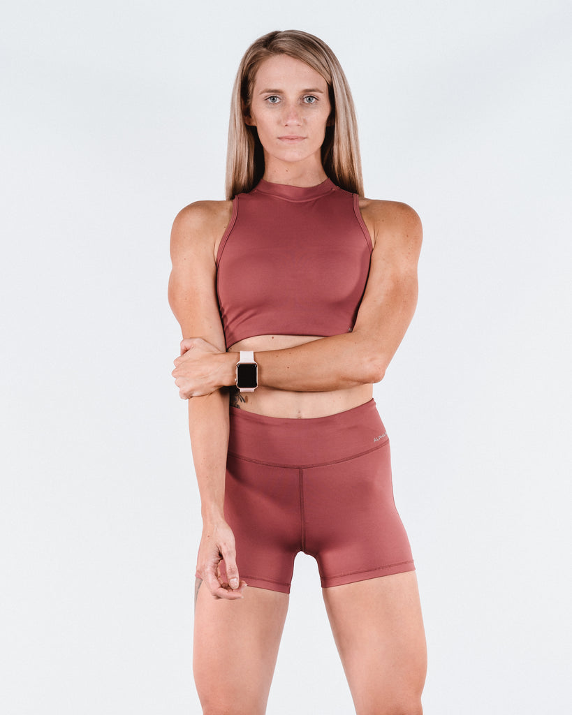 High Neck Sports Bra - Melrose