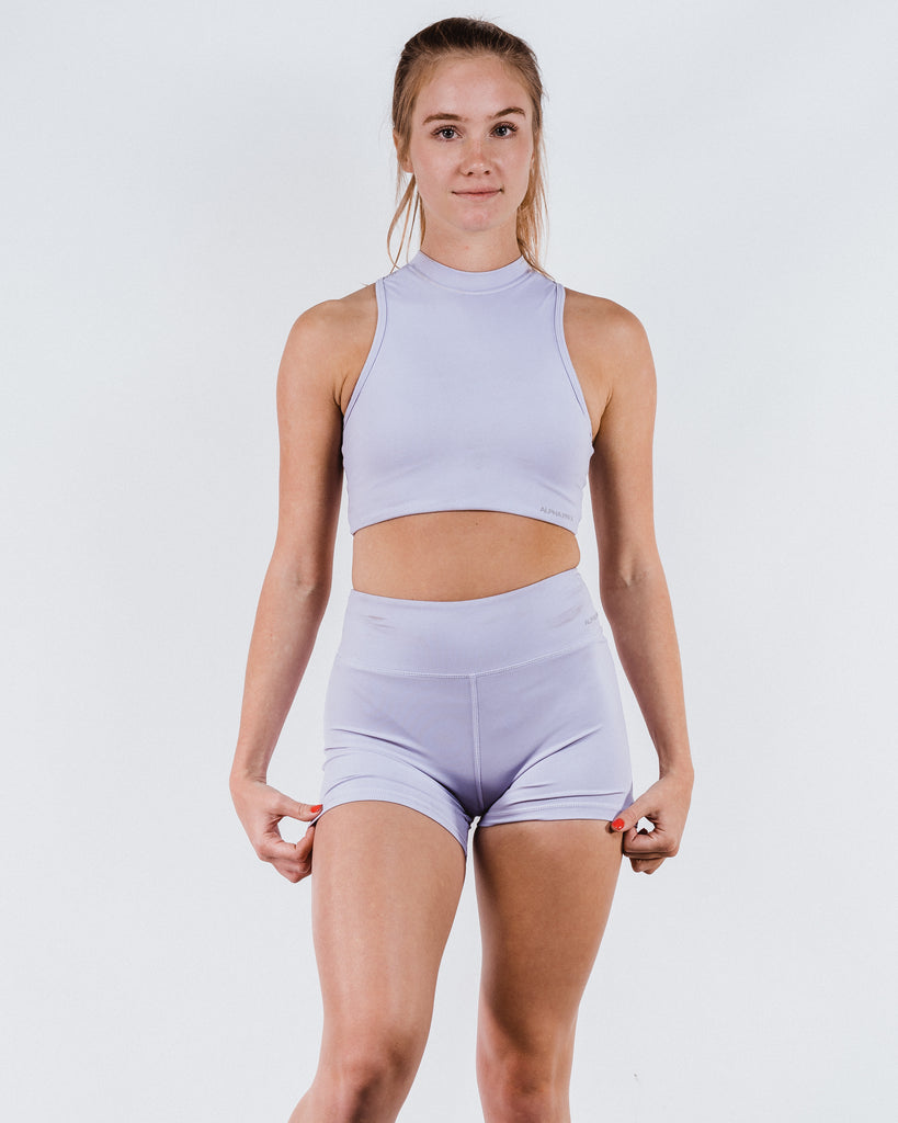 High Neck Sports Bra - Amethyst
