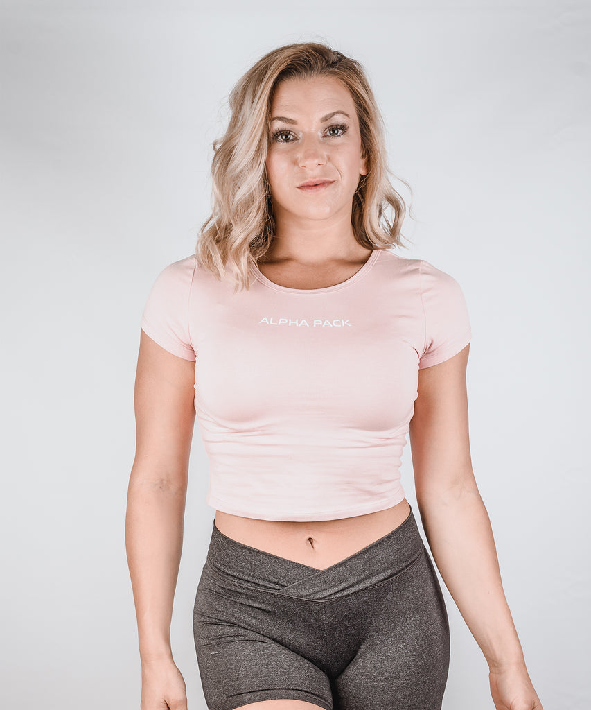 Essential Cropped Tee - Mauve