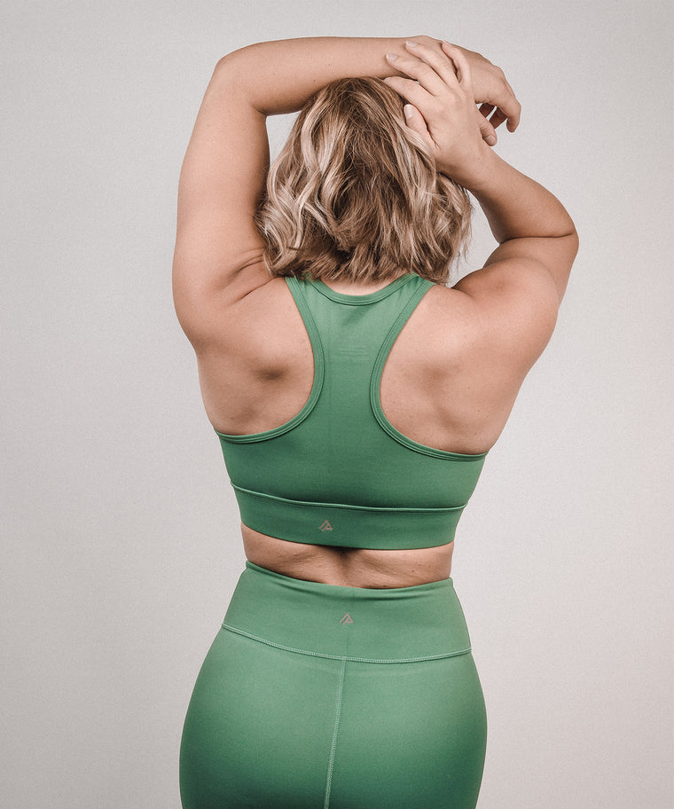 Signature Sports Bra - Khaki