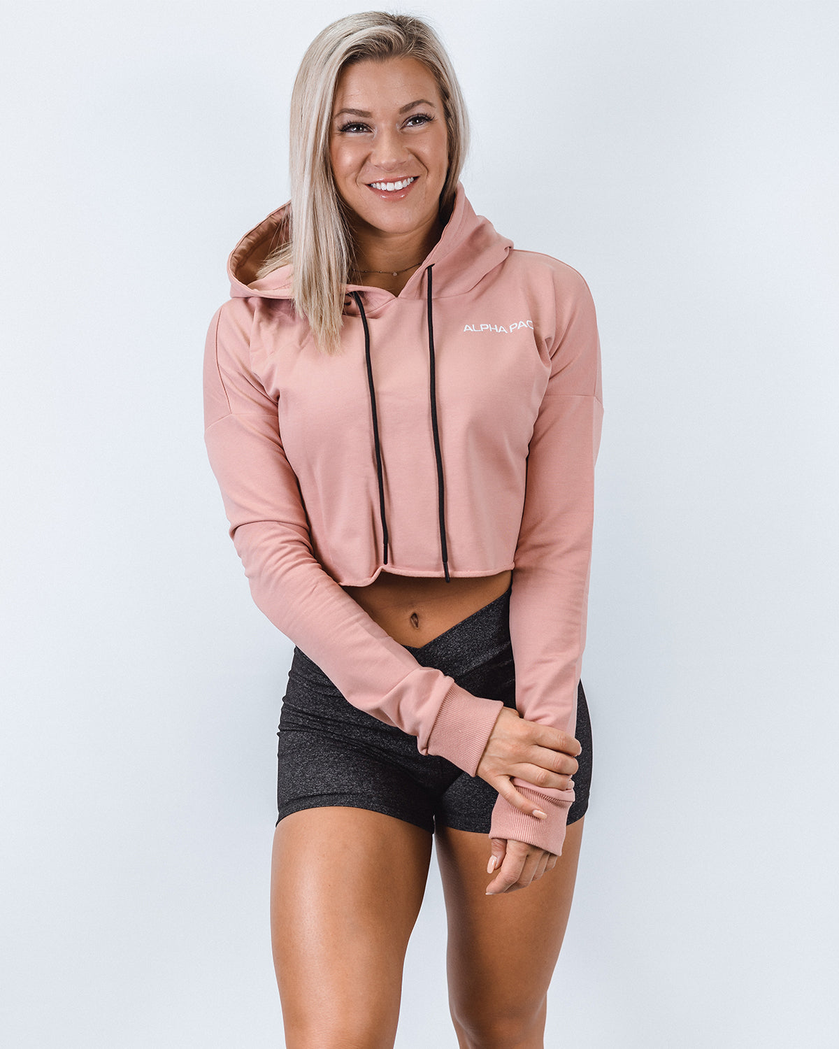 Mauve Cropped Hoodie