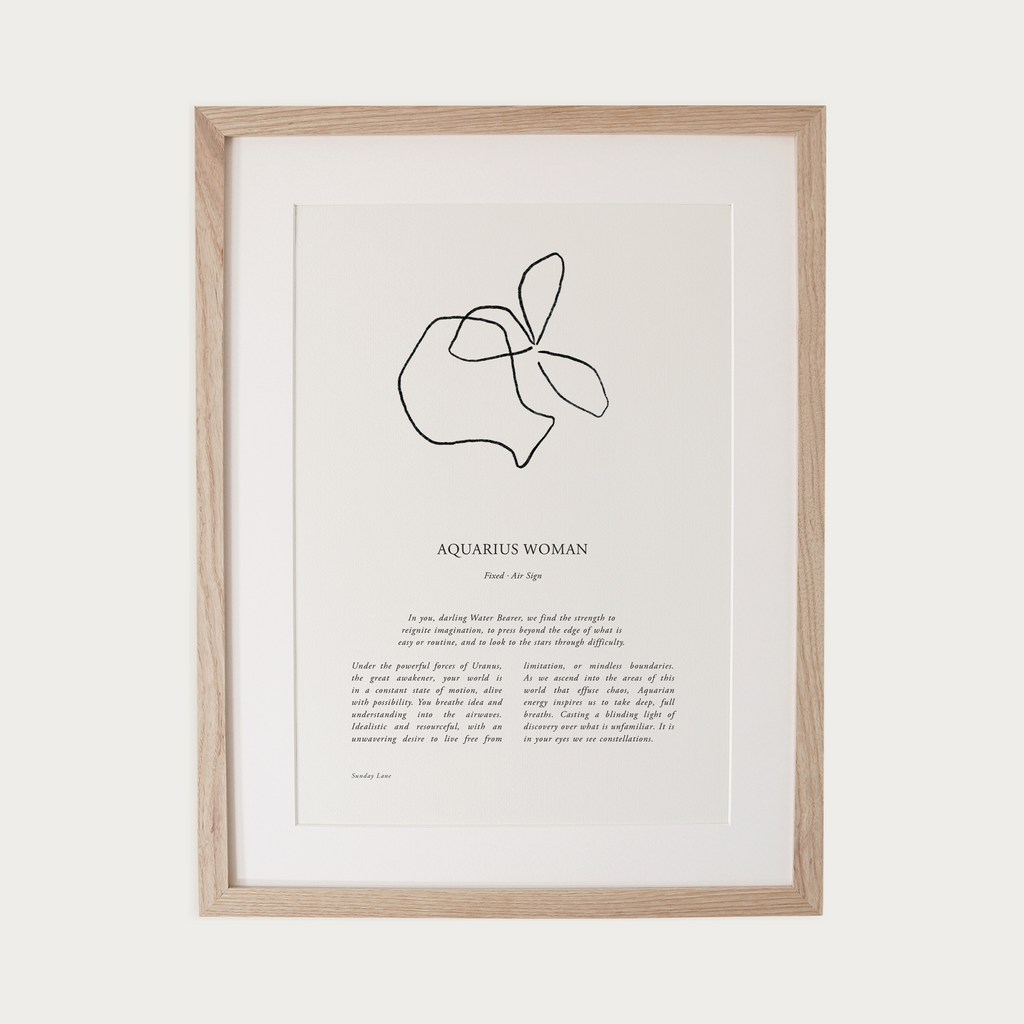 SUNDAY LANE | Zodiac Women II | Aquarius