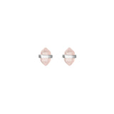 beaming crystal studs | rose quartz