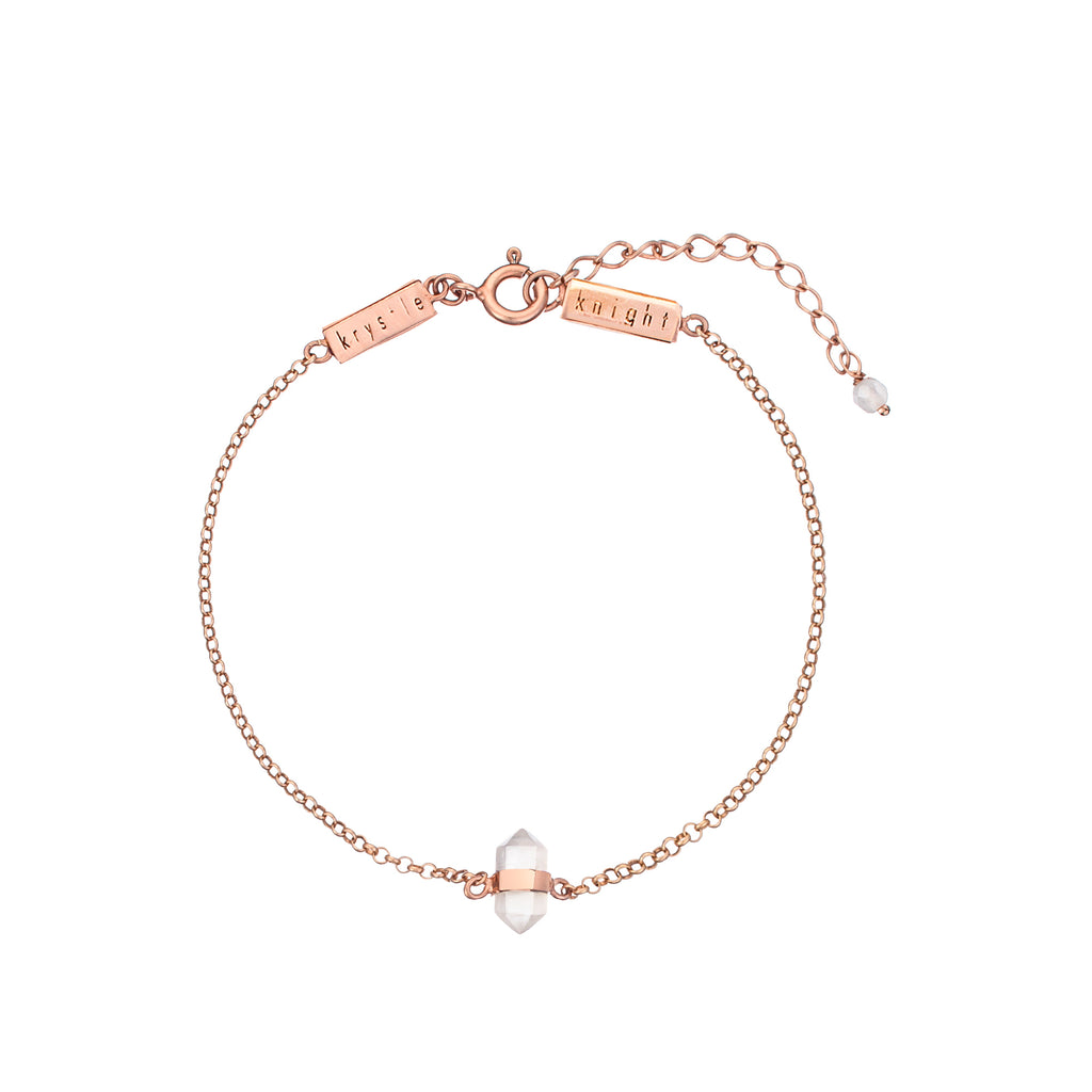 calming quartz bracelet | rose quartz