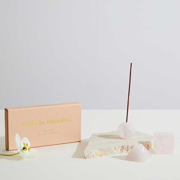 Infinite Love Rose Quartz Incense Holder | Set of Three