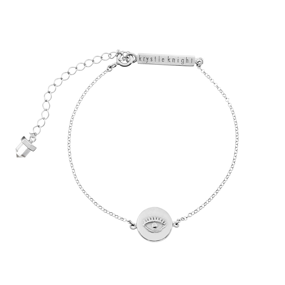 Inner Wisdom Bracelet | Mini Evil Eye Coin