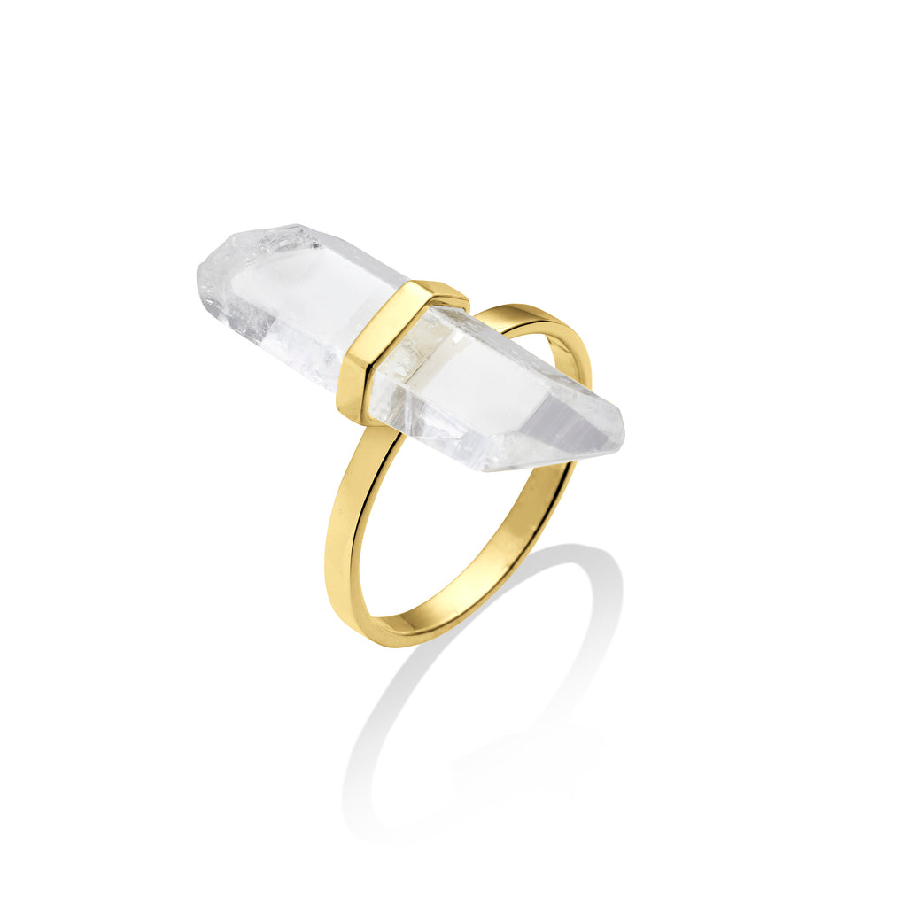 love light ring | clear quartz