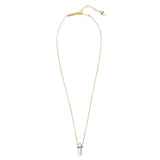 lunar quartz necklace | clear quartz