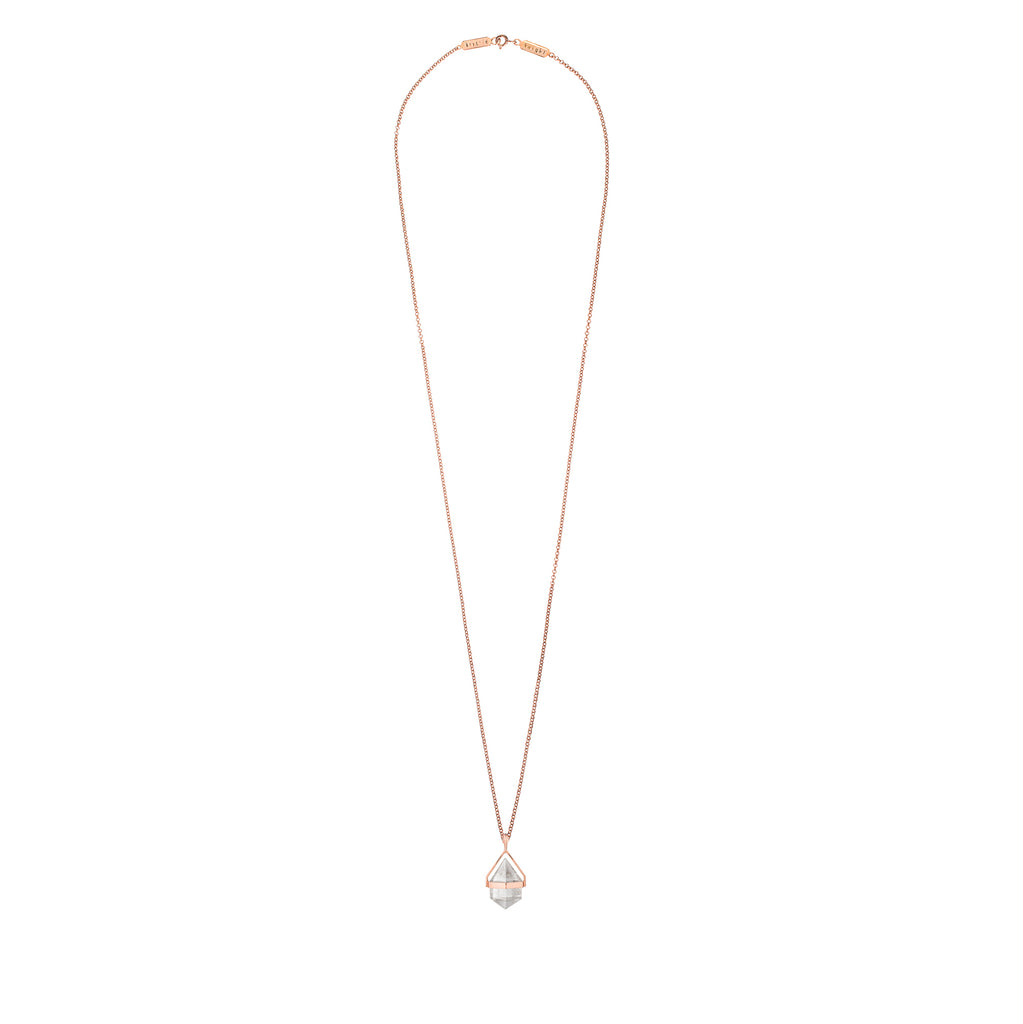 mini white aura necklace # 4 | clear quartz