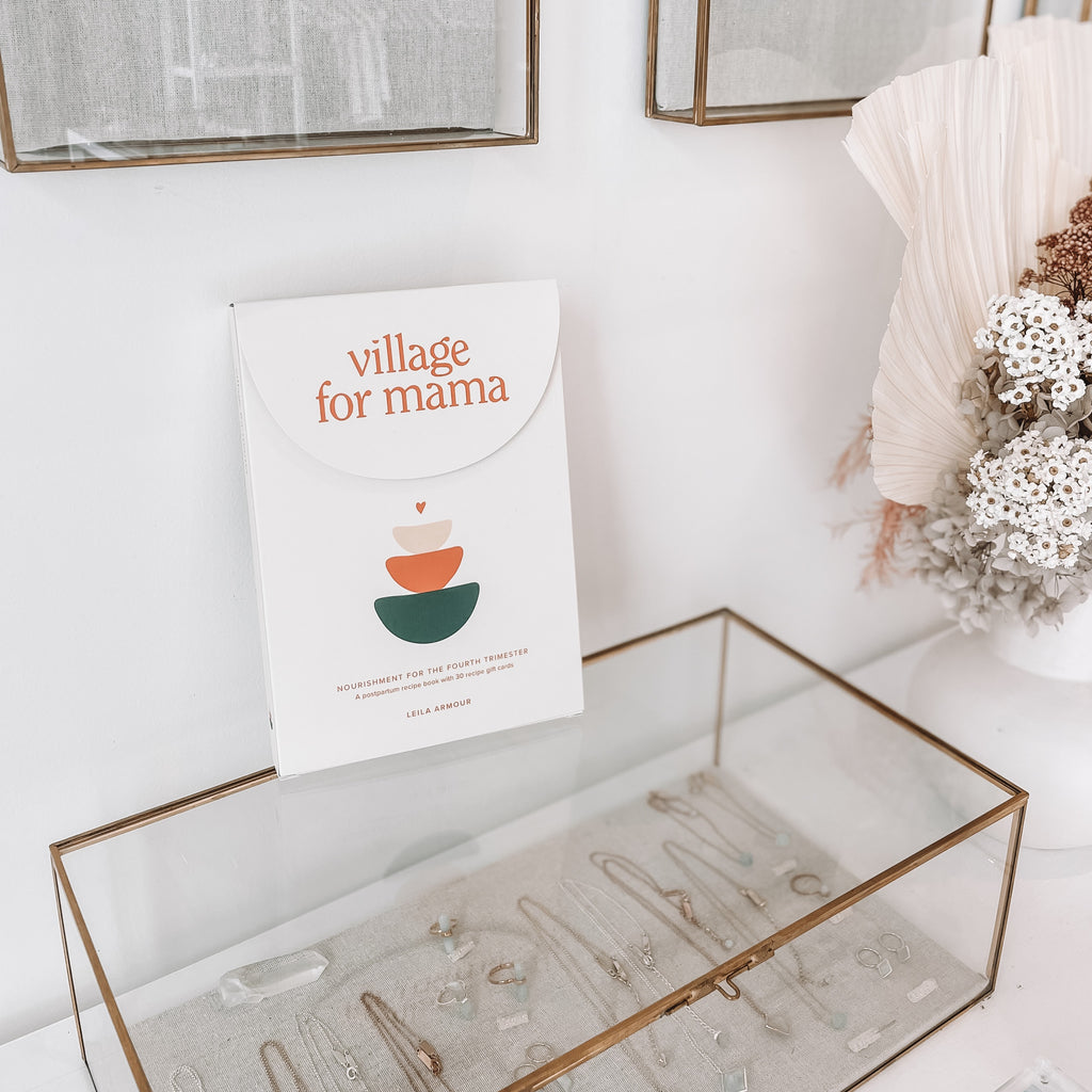 village for mama | postpartum recipe book