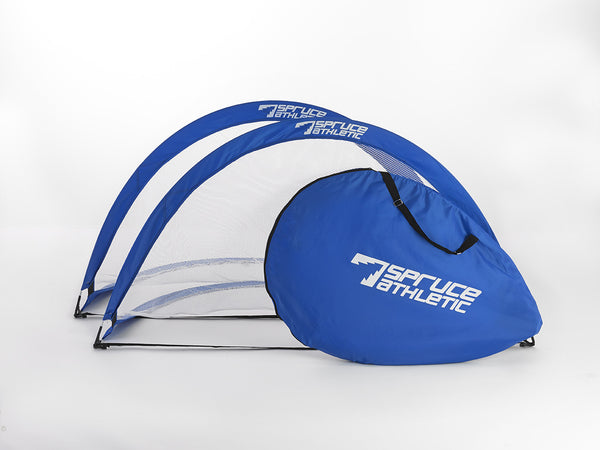 6ft Pop Up Soccer Goals - Royal Blue