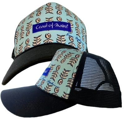 Coast of Maine - Trucker Hat - Fish Bone Theme