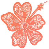 Hibiscus Crop Top - Say Hello to flower season - CORAL