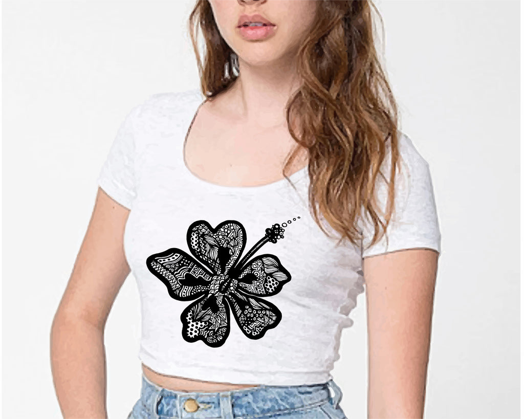 Hibiscus Crop Top