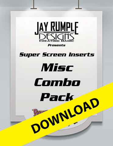 Super Screen Jumbo Miscellaneous Pack of Printable Inserts